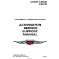 Continental Alternator Service Support Manual 646843 649304 X30531-4 $19.95