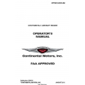 Continental GTSIO-520-M Operators Manual  2011 X30533 $19.95