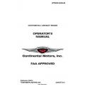 Continental Operators Manual X-30551 GTSIO-520-N $19.95