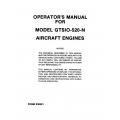 Continental Operators Manual X-30551 GTSIO-520-N $13.95
