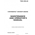 Continental Maintenance and Operators Manual TSIO-360 LB X30571 $19.95