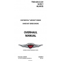 Continental TSIO-520-C,G,H & M,P,R,T,AE,AF,CE Sandcast Series Engine Overhaul Manual X30575 $19.95