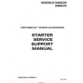 Continental Starter Service Support Manual 646238 646275 X30592-1 $ 19.95