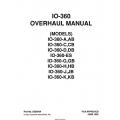 Continental IO-360 Models IO-360-A,AB, IO-360-C,CB, IO-360-D,DB, IO-360-ES, IO-360-G,GB, IO-360-H,HB, IO-360-J,JB, IO-360-K,KB Overhaual Manual X30594