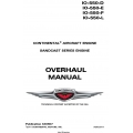 Continental IO-550-D, IO-550-E, IO-550-F, IO-550-L  Sandcast Series Engine Overhaul Manual X30607 $29.95