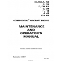 Continental Maintenance and Operators Manual IO-360 X30617 $13.95