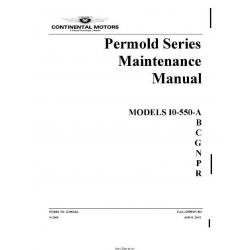 Continental IO-550 - A,B,C,G,N,P,R 2001 Permold Series Maintenance Manual X30634A  $19.95