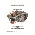 Continental Continuous Flow Ready Reference Guide Fuel Injection System Set-up Form No.X30651  $19.95