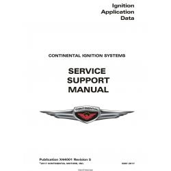 Continental Ignition Systems Application Data Service Support Manual X44001 v2017 $19.95