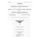 Northrop YF-43, P-43 & P-43A Pursuit Airplanes Handbook of Operation & Flight Instructions