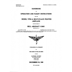 Bell Helicopter YFM-1A Multi-Place Fighter Handbook of Operation & Flight Instructions