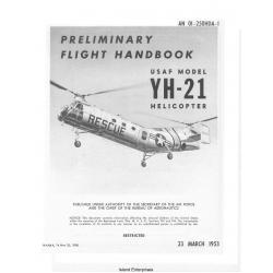 Piasecki Helicopter YH-21B USAF Model Helicopter Preliminary Flight Handbook 1953