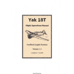 Yak 18T Flight Operations Manual 2003 $5.95