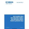 Yamaha RX10J/RX10SJ, RX10MJ/RX10MSJ, RX10RJ/RX10RSJ, RXW10J/RXW10SJ Snowmobile LIT-12628-02-33 Owner's Manual 2003