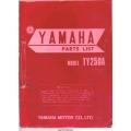 Yamaha TY250A Motorcycle LIT-10014-34-00 Parts Manual 1973