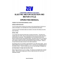 ZEV Z Electric Motor Scooter and Motorcycle Operating Manual $4.95