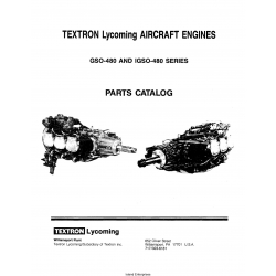 Lycoming GSO-480 AND IGSO-480 Series Parts Catalog PC-114-2 $9.95