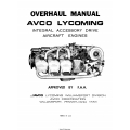 Lycoming Integral Accessory Drive Aircraft Engines Overhaul Manual 60294-6-1