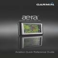 Garmin Aera 500, 510, 550,560 Aviation Quick Reference Guide 190-01117-03 $13.95