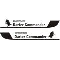 Darter Commander Aircraft Decal/Sticker 1 7/8''h x 12 1/4''w!