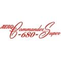 Aero-Commander Super 680 Aircraft Decal/Sticker 4''h x 14''w!