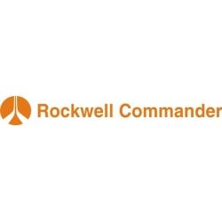 Rockwell Commander Aircraft Decal/Sticker 7/8''h x 7 1/4''w!