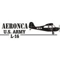 Aeronca L-16 Aircraft Logo,Decal/Sticker 3.25''h x 12''w!