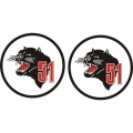 Ag-Cat 51 Aircraft Decal,Sticker 6''round diameter!