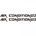 Air Conditioned Aircraft Placards,Decals!