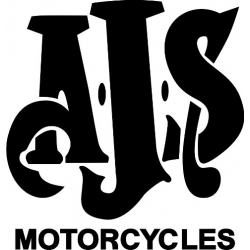 """AJS Motorcycle Vinyl Sticker/Decal 7"""" wide by 7.3"""" high"""