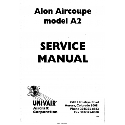 Alon Aircoupe Model A2 Service Manual $4.95
