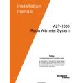 Rockwell Collins ALT-1000 Radio Altimeter System Installation Manual 2005
