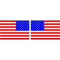 "America's Flag Decal 4.5"" wide x 3''high! Left & Right"