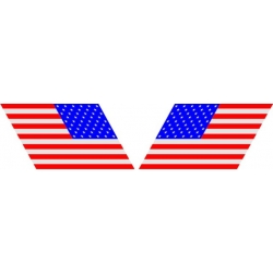 """America's Flag Decal  8"""" wide! Left & Right"""