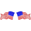 "America's Flag Decal 8"" wide! Left & Right"
