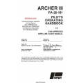 Piper Archer III PA-28-181 Pilot's Operating Handbook $19.95