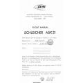 Schleicher Ask 21 Flight Manual/POH $4.95