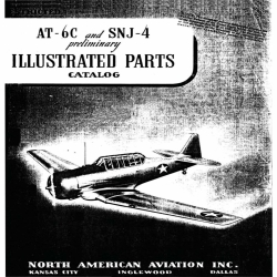 North American AT-6C and SNJ-4 Preliminary Illustrated Parts Catalog NA-5578 1942 $9.95