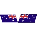 "Australia's Flag Slanted Decal Vinyl/Sticker 8"" wide! Left & Right"