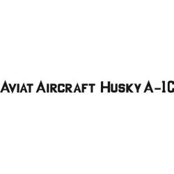 Aviat Aircraft Husky A-1C Decal/Sticker 1 3/4''high x 28 3/4''wide!