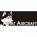 Aviat Husky Aircraft Decal,Sticker/Vinyl Graphics 10.5''wide x 4.5''high!