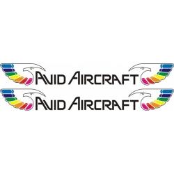 Avid Aircraft Decal,Sticker 2 1/2''high x 13 1/2''wide!