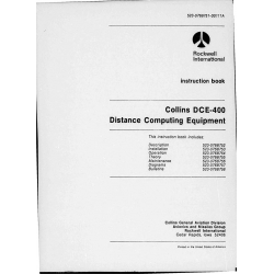 Collins DCE-400 DCE 400  Distance Computing Equip Instruction/Installation/Operation/Maintenance Book  523-0768751-00111A