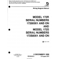 Cessna Model 172R Serial Numbers 17280001 AND ON AND Model 172S Serial Numbers 172S8001 AND ON Wiring Diagram 172RWD05  $29.95