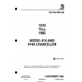 Cessna Model 414 and 414A, Chancellor Service Manual D778-34-13 $29.95