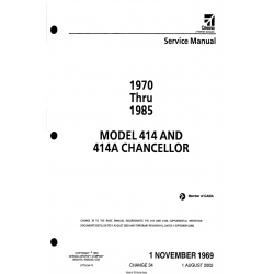 Cessna Model 414 and 414A, Chancellor Service Manual D778-34-13