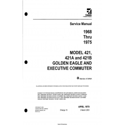 Cessna Model 421, 421A and 421B (1968 thru 1975) Golden Eagle and Executive Commuter Service Manual D817-15-13 $29.95