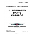 Continental GO-300-A, C, D, & E Series Aircraft Engines Illustrated Parts Catalog 1976 X30020 $9.95
