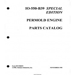 Continental Model IO-550-B39 Permold Engine Parts Catalog IPC550B39 $13.95