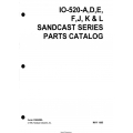 Continental Model IO-520-A-D-E-F-J-K & L Sandcast Series Parts Catalog X30628A $19.95